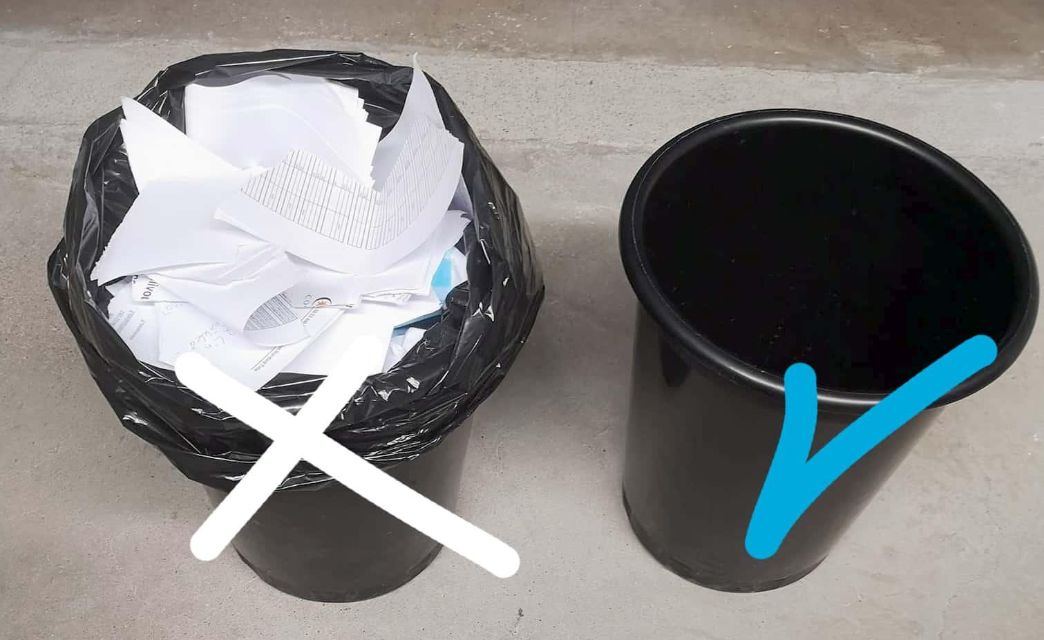 Muovipussien vähentäminen